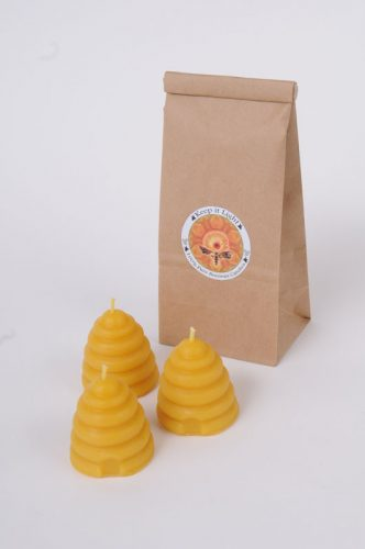 Beeswax Beehive Votive Candles