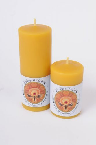 2 inch Beeswax Pillar Candles