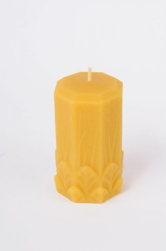 2.5 inch Beeswax Garden Leaf Pillar Candle