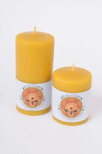 2.5 inch Pillar Beeswax Candles