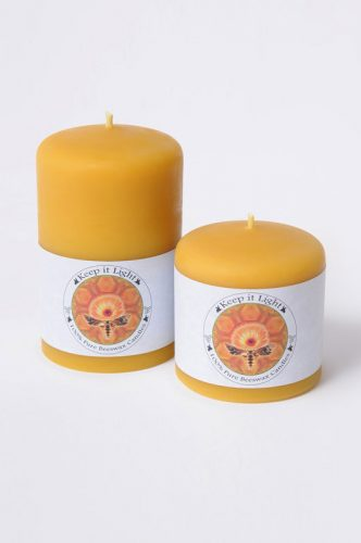 3 inch Pillar, Beeswax Candles