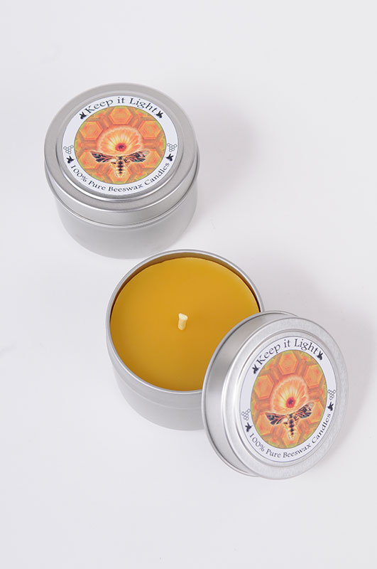 Beeswax 4 oz Travel Tin Candle