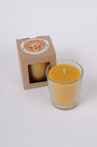 Beeswax tumbler Candle