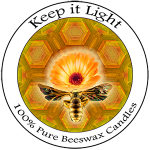 Keep it Light, 100% Pure Beeswax Candles